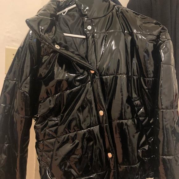 76bb95b62e5 Target wild fable shiny pvc puffer jacket small. M 5c3a47219539f7624d98a59b